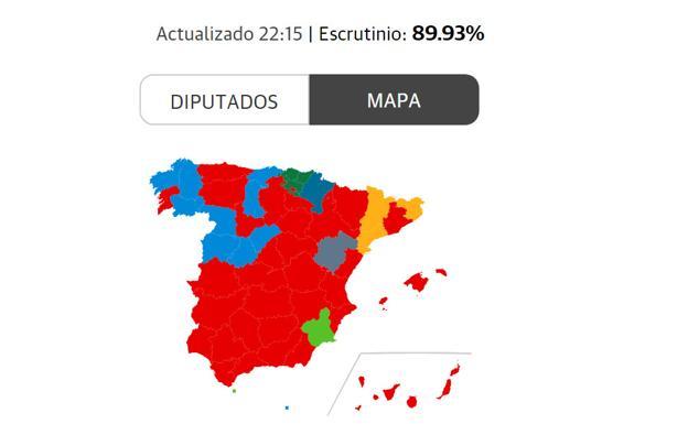 Mapa De España Actualizado.Mapa Electoral De Espana 2019 Elecciones Generales 10n El