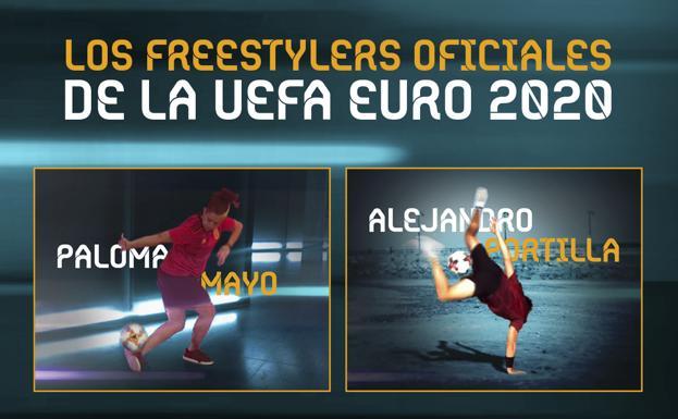 Paloma Mayo y Alejandro Portilla, freestylers de la Euro 2020 en Bilbao - El Correo