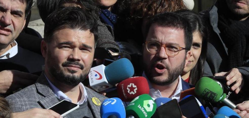 ERC avisa al PSOE de que no quiere negociar transferencias sino la autodeterminación