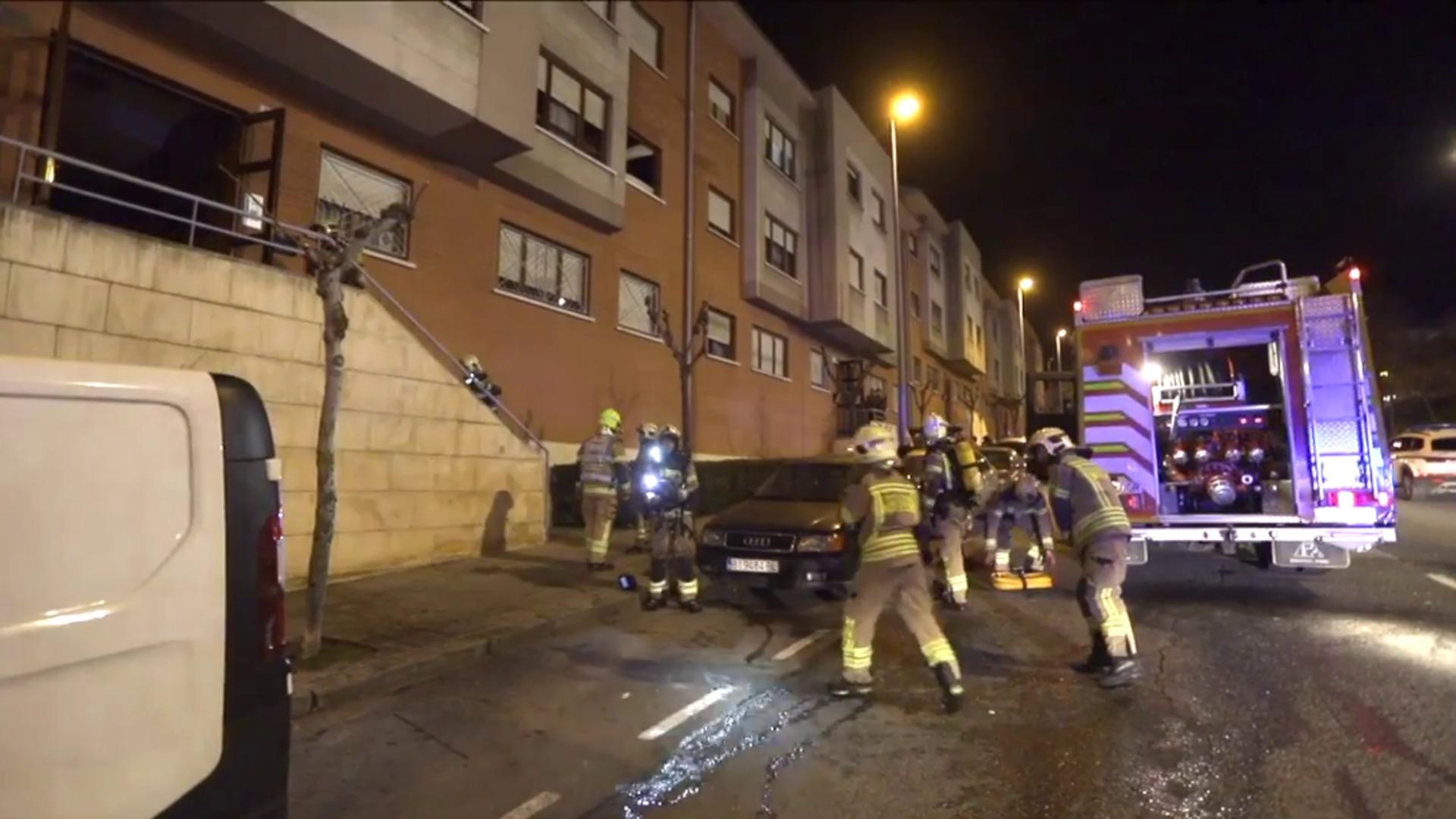 Un incendio por una manta eléctrica obliga a desalojar un edificio en Portugalete