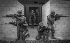 Los militares del cuartel Soyeche