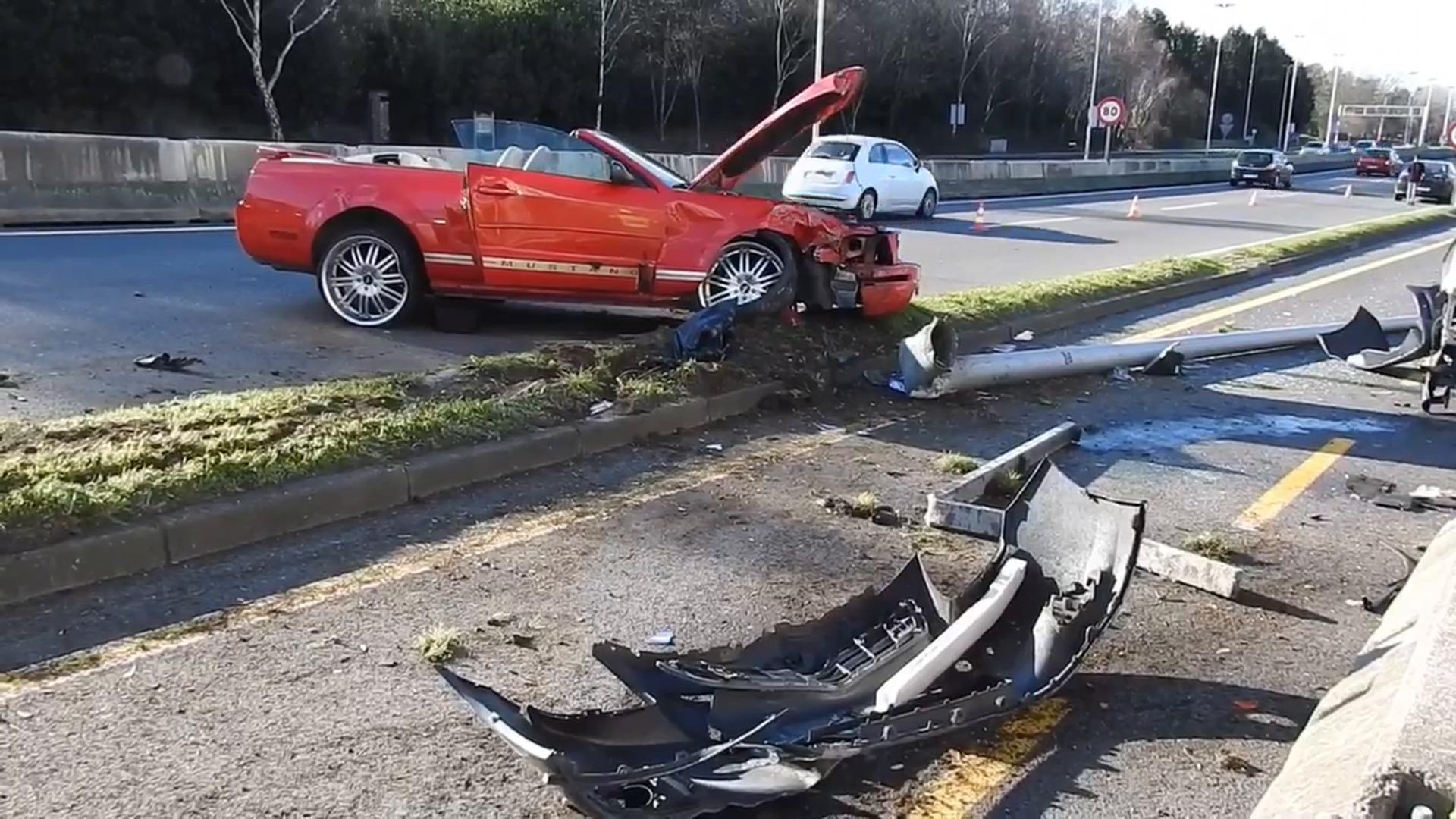 Un accidente múltiple en La Avanzada deja un herido e importantes retenciones