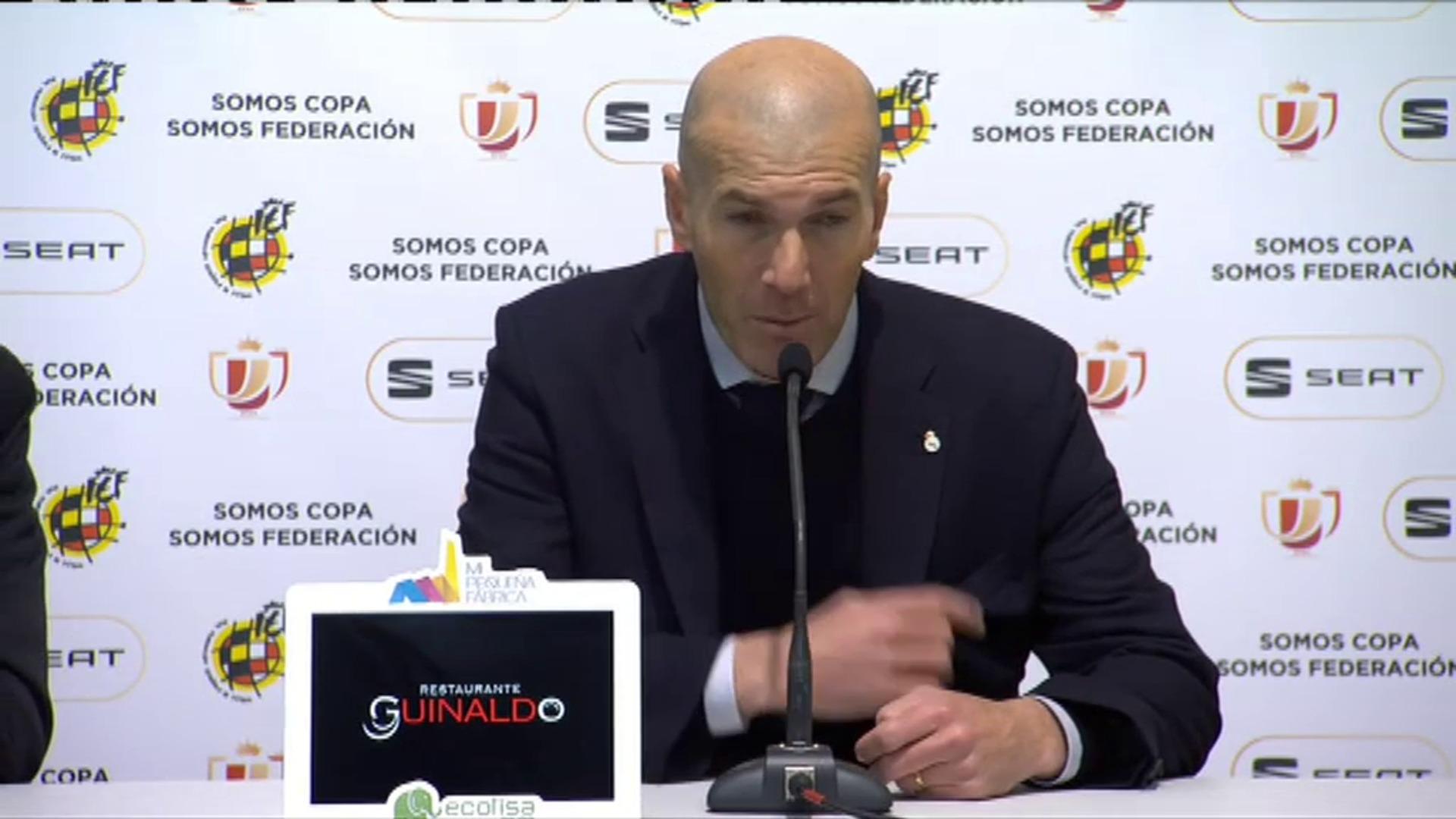Zidane, satisfecho por la clasificación del Real Madrid en Salamanca