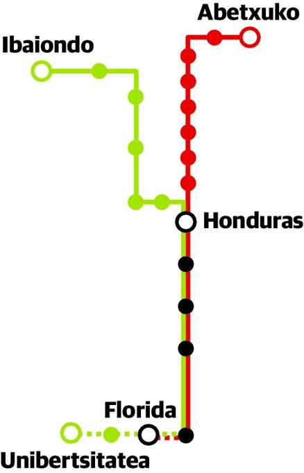 El nuevo ramal Sur del tranvía conectará Lakua y la Universidad en 17 minutos desde febrero