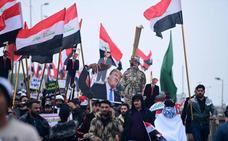 Las calles de Bagdad piden a Trump que saque a sus tropas