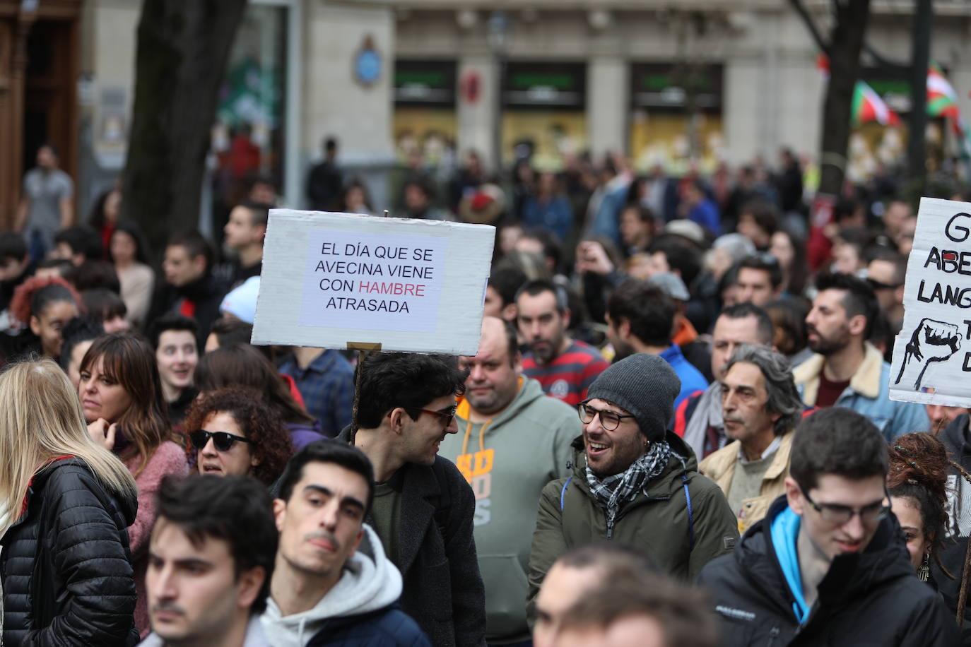 Las jornada de huelga en Bilbao, en imágenes
