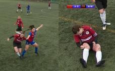 Una futbolista se disloca la rodilla, se la recoloca a puñetazos y sigue jugando