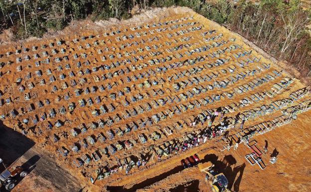 Las víctimas del coronavirus son enterradas en fosas comunes en ...