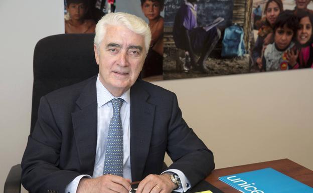 El presidente de Unicef España, Gustavo Suárez Pertierra./R.C.