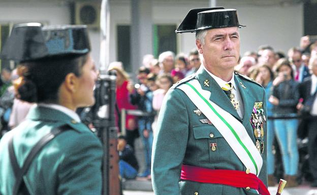 Félix Blázquez, nuevo 'número tres' de la Guardia Civil, en el acuartelamiento de Sansomendi, en Vitoria. /EFE