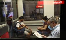 El metro, el tranvía y los autobuses funcionarán desde mañana al 100% de su capacidad
