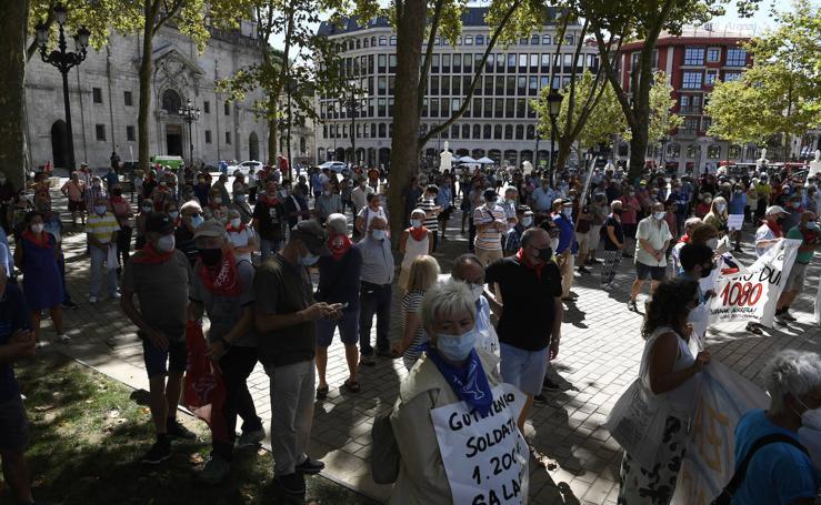 Así ha transcurrido la movilización de los pensionistas en Bilbao