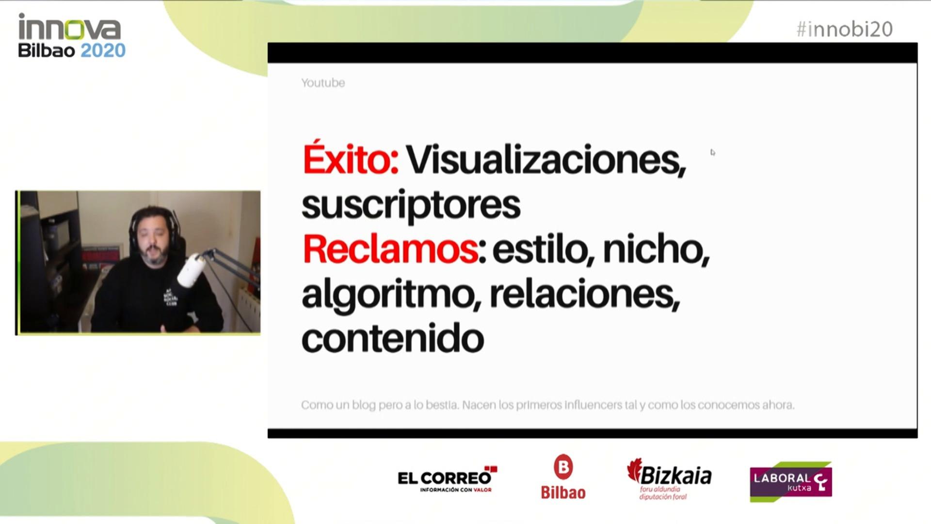 'De la influencia analógica a la digital' con Xavi Robles en Innova Bilbao 2020