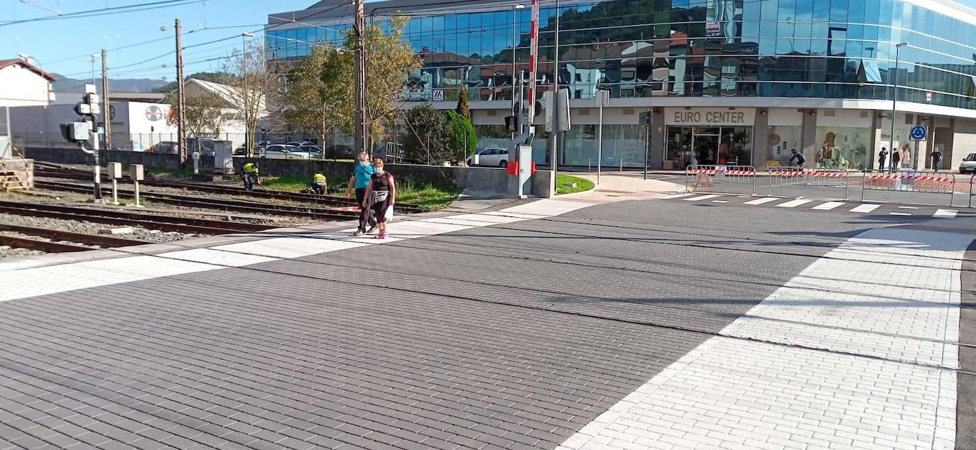 Gernika mejora la movilidad urbana con la reordenación del paso a nivel de La Vega