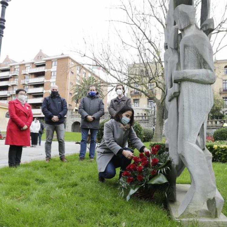 Getxo rinde homenaje a las víctimas del terrorismo