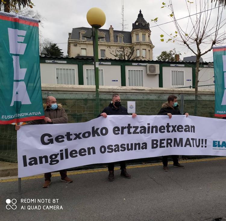 Ertzainas de Getxo denuncian que los barracones donde trabajan son insalubres