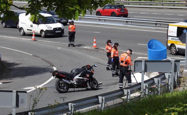 La muerte de un motorista en Sondika eleva a 5 los pilotos fallecidos en Euskadi