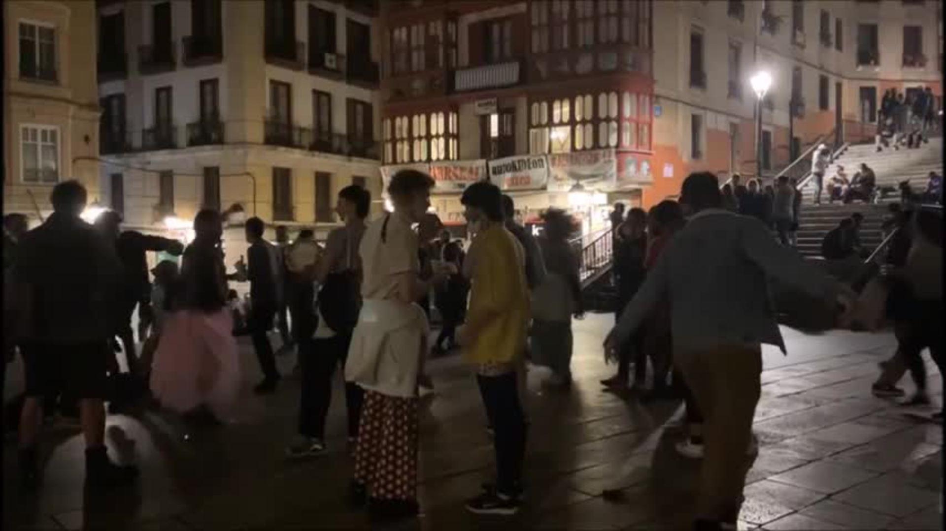 Así se ha celebrado el fin del estado de alarma en Bilbao