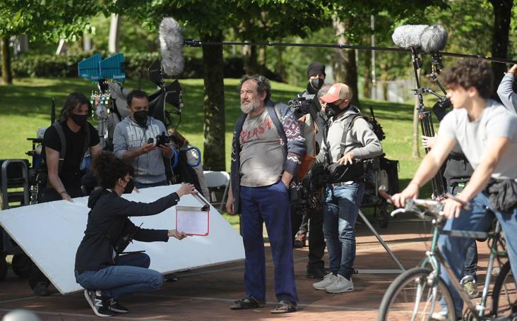Rodaje de 'La vida padre' en Bilbao