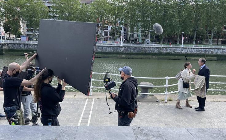 Rodaje de la película 'El comensal' en Abandoibarra