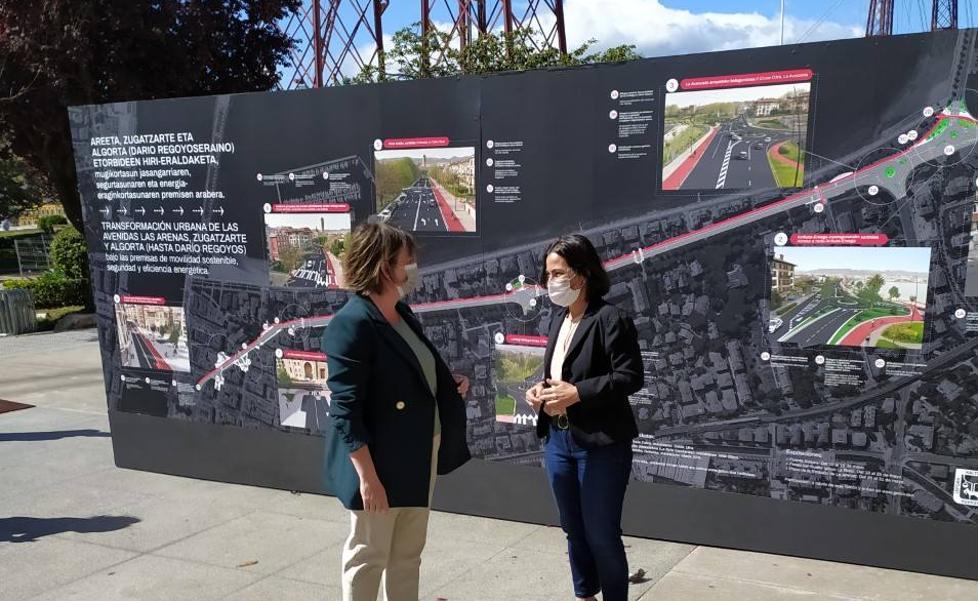 Getxo ampliará los espacios peatonales y habilitará un bidegorri en Las Arenas