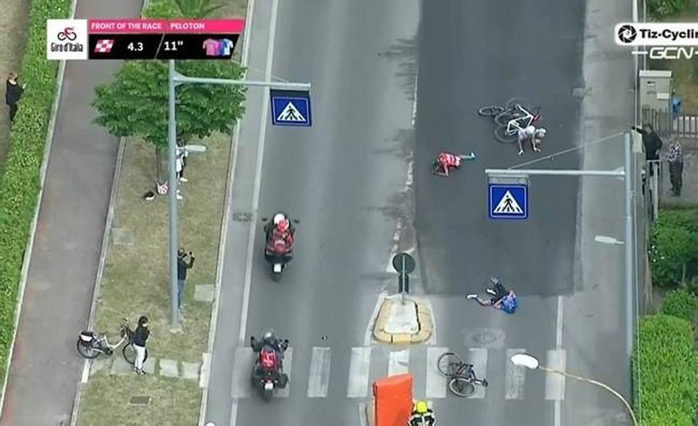 Así ha sido la terrible caída de Mikel Landa en el Giro de Italia