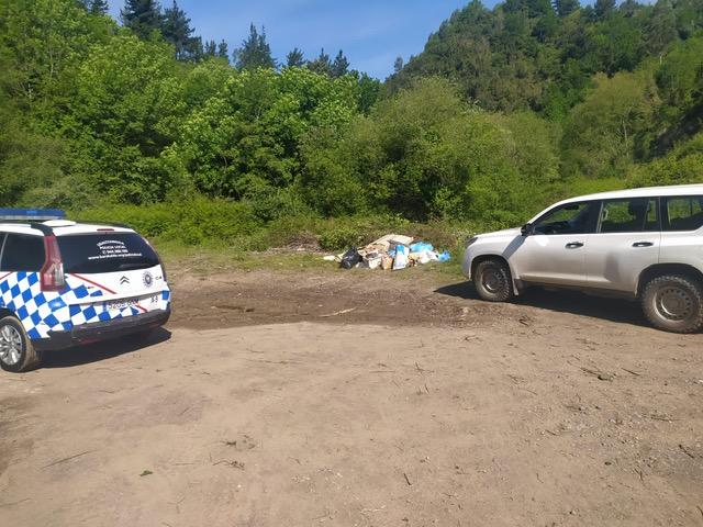 La Policía Local de Barakaldo localiza a los autores de un tercer vertido ilegal