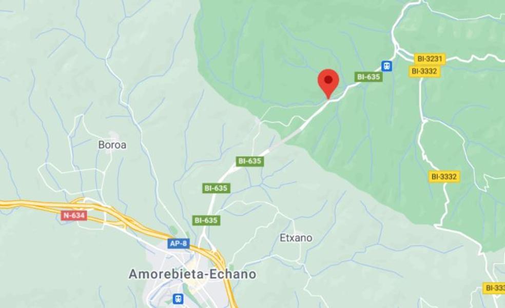 Un accidente múltiple en Zaratamo corta la BI-625 en sentido Bilbao