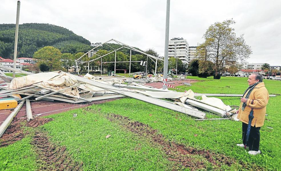 Bakio recuperará el espacio cubierto de Bakea que destrozó el viento en 2019