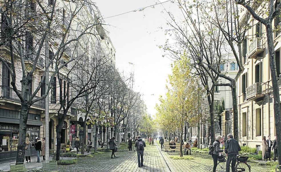 Calles, plazas y patios verdes para Bilbao
