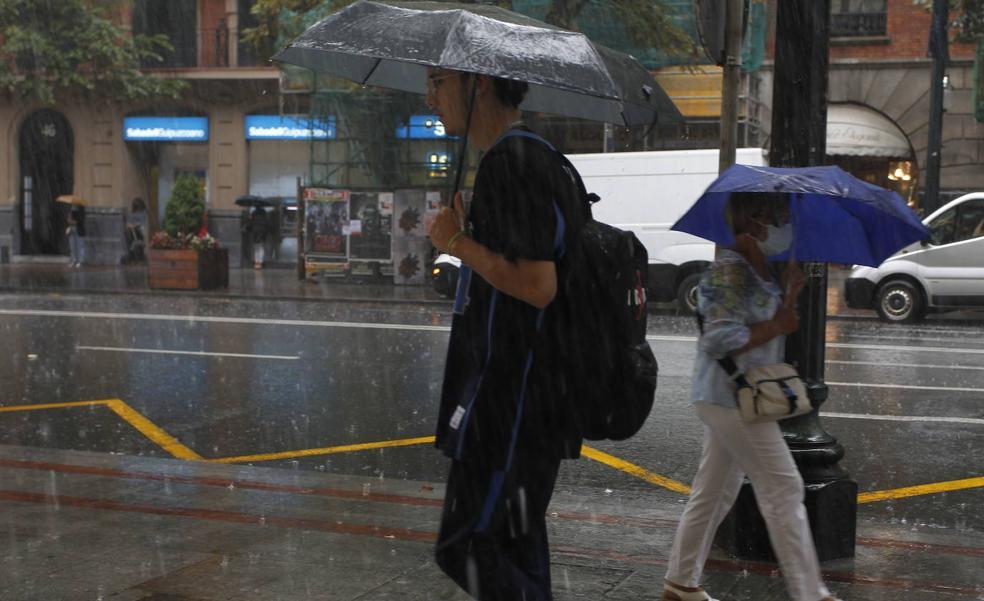 Aviso amarillo por fuertes lluvias para hoy en Bizkaia