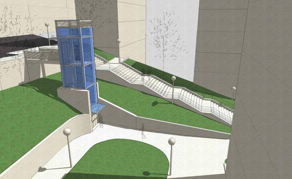 Tres nuevos ascensores mejorarán la conexión en Otxarkoaga