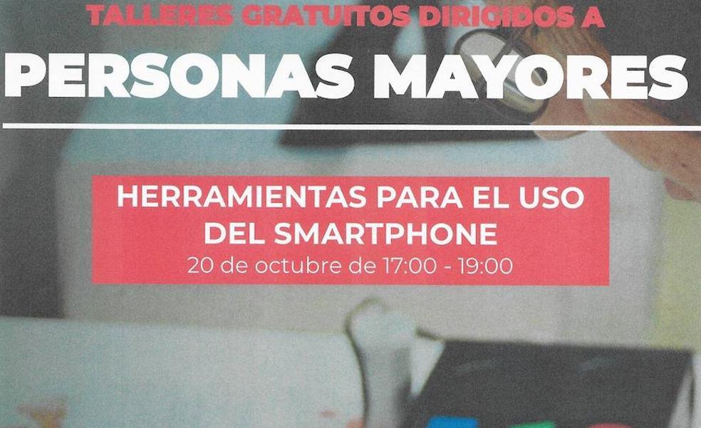 Uribe Kosta y Cruz Roja imparten un curso gratuito sobre teléfonos móviles a sus mayores