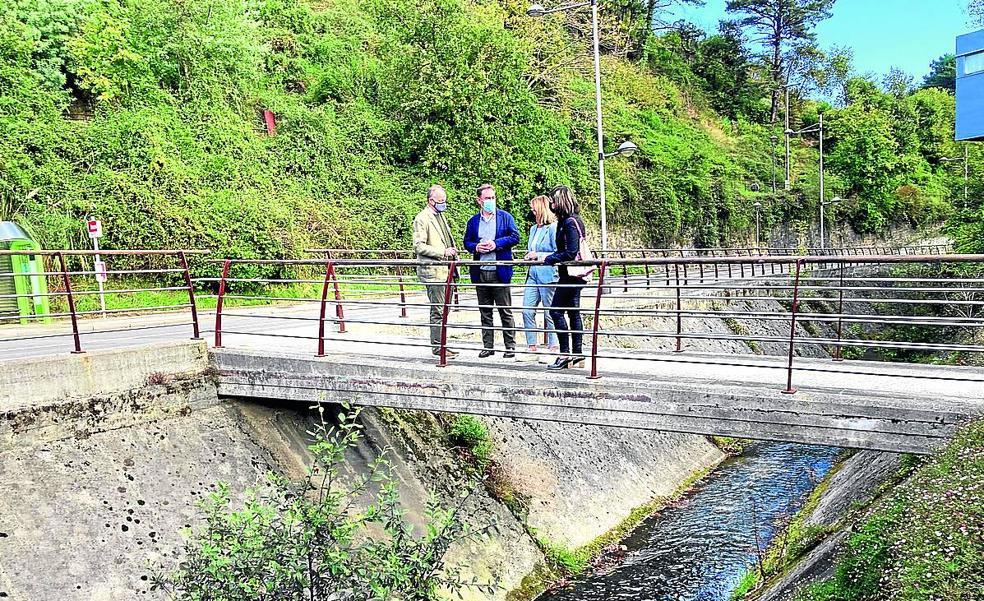 El río Castaños recuperará su aspecto natural en Barakaldo al eliminar el hormigón