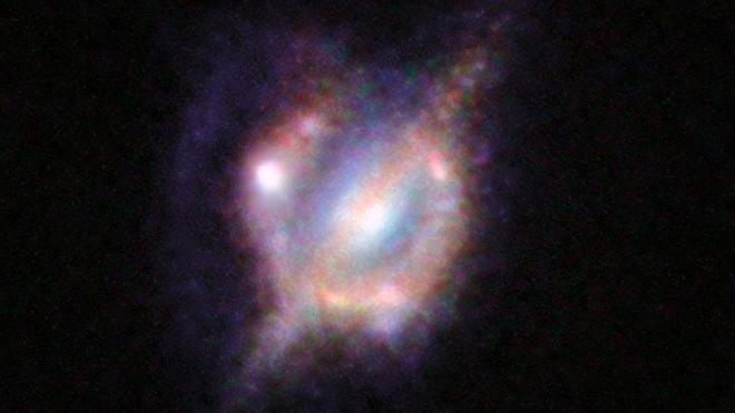 Captan la mejor imagen de la colisión de dos galaxias