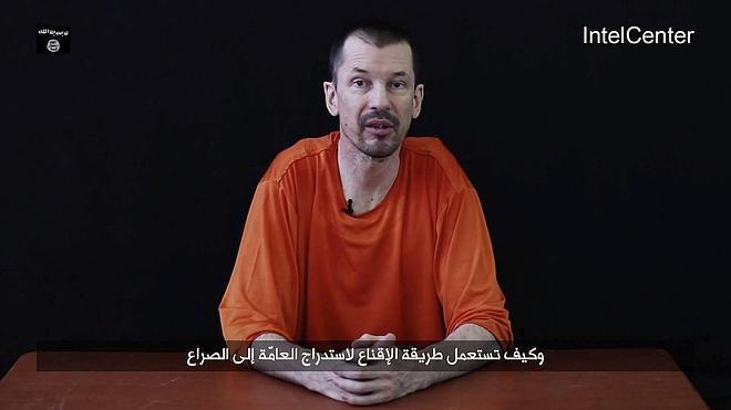 Estado Islámico difunde el tercer vídeo del rehén británico