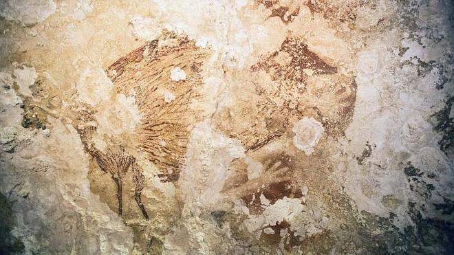 El arte rupestre apareció en Asia al mismo tiempo que en Europa