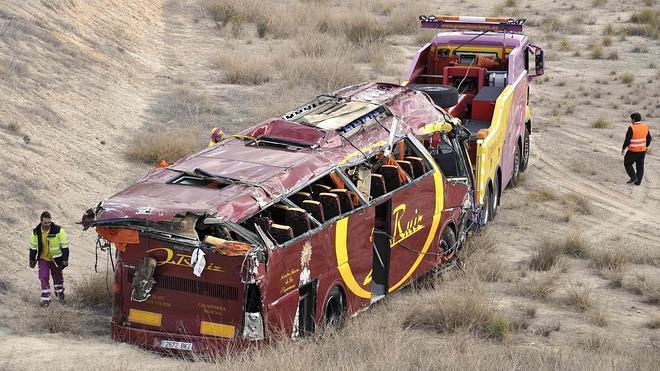 En libertad con cargos el conductor del autobús siniestrado en Murcia