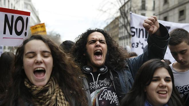 Incidentes en Madrid durante la protesta estudiantil