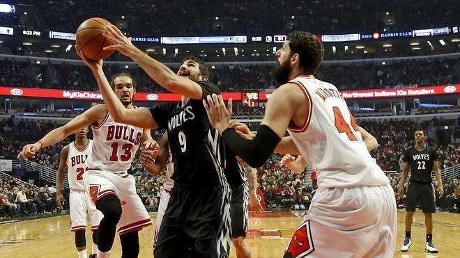 El 'doble-doble' de Ricky Rubio, insuficiente ante unos Bulls sin Gasol