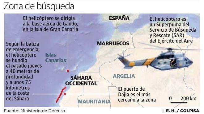 Defensa amplía la búsqueda aérea de los militares desaparecidos