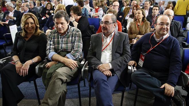 Los 'barones' del PSOE elogian a Madina pero evitan abrir un conflicto interno por su lugar en la lista
