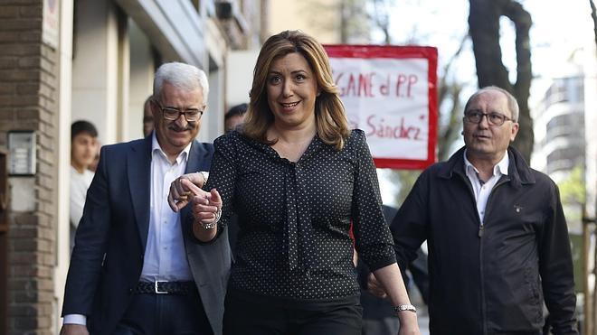 Susana Díaz: «Cuando llegue el congreso reflexionaré sobre lo mejor para el partido»