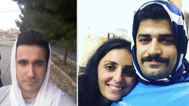 Los hombres en Irán se ponen el 'hijab' en solidaridad con sus mujeres
