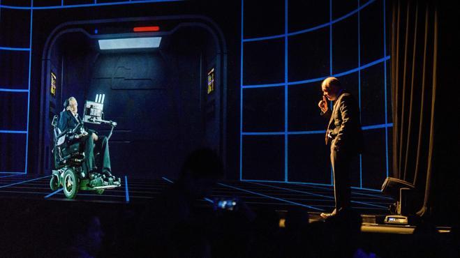 Stephen Hawking, en forma de holograma