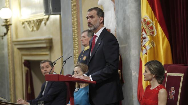 Felipe VI: «Fuera de la ley sólo hay arbitrariedad, imposición y negación de libertad»
