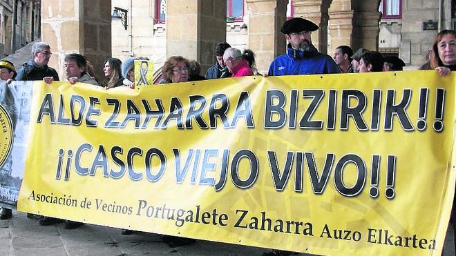 Nueva protesta contra el plan del Casco Viejo en Portugalete