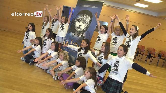 Cien niñas vizcaínas quieren cantar en 'Los Miserables'