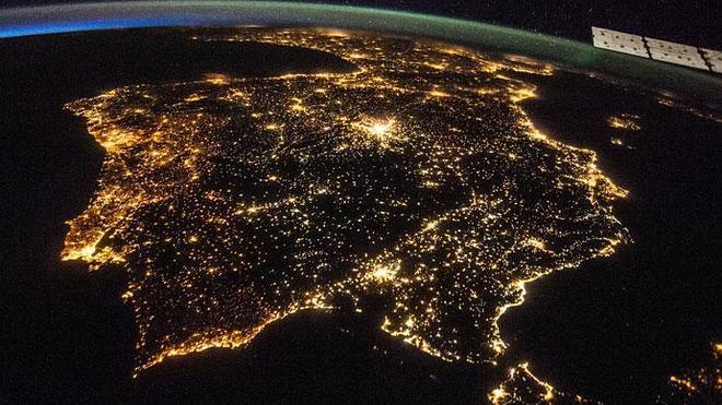 La Península Ibérica desde el cielo