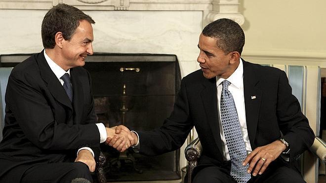 Zapatero y Obama soplan velas